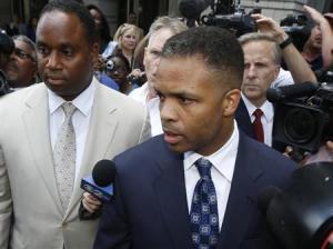 Jackson Jr. leaves his sentencing hearing in Washington